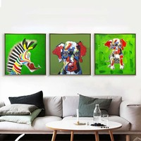 Creative Color World All Kinds Of Cute Dogs Photo American Modern Art Canvas Painting Wall Hanging