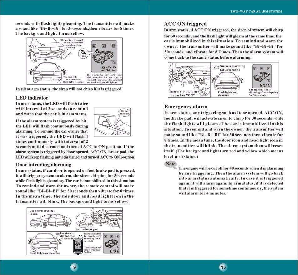 Spy Two Way Car Alarm Timer Remote Engine Start System C1s808 Immobilization 2009 Ford F150 Wiring Diagram X4 X5 X6 X7 X8 X9