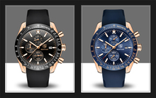 Men Watches Brand Luxury Silicone Strap Waterproof Sport Quartz Chronograph Military Watch Men