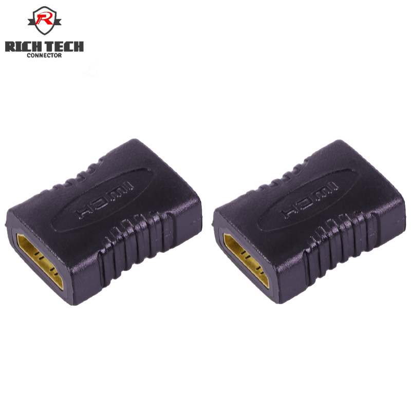 4pcs HDMI Connector L=41.2mm HMDI Female Jack To Female Jack AV Connector Adapter  HDMI Female Port Connector