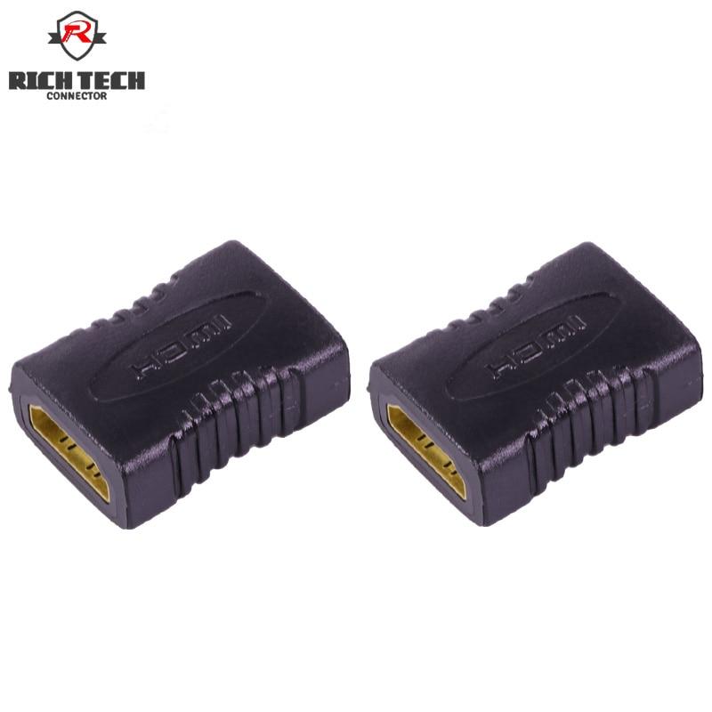 4pcs HDMI Connector L=41.2mm HMDI Female Jack To Female Jack AV Connector Adapter  HDMI Female Port Connector