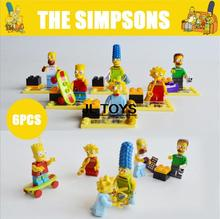 American classic cartoon images building block The Simpsons assemblage minifigures bricks compatible pokemon go for kids gifts