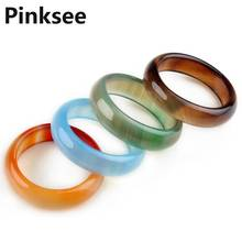 10pcs Fashion Lady Women Multicolor Natural stone Ring Men Band Rings Charm Jewelry High Quality Wholesale Mixed Lot Free Ship