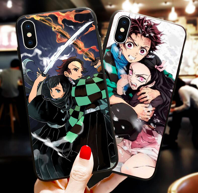DEMON SLAYER THEMED IPHONE CASE (10 VARIAN)