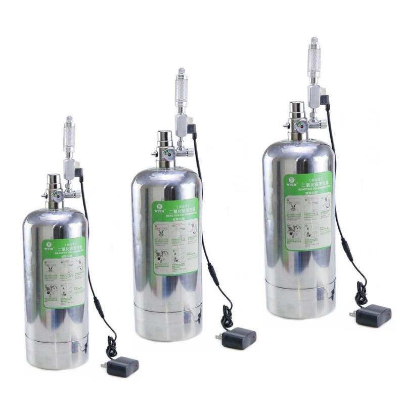 Kit de sistema de generador Wyin acuario DIY CO2 con ajuste de flujo de aire a presión planta de agua acuario valvedifuserla reacción