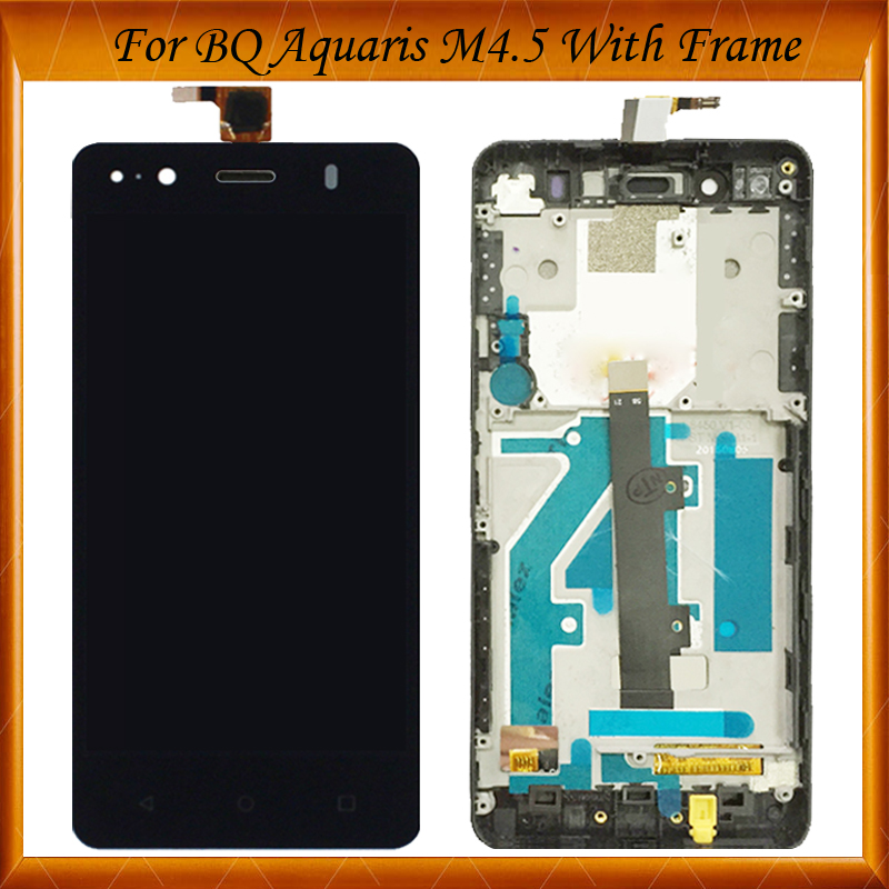 Black/White 4.5 Tested LCD screen display + touch screen digitizer For BQ Aquaris M4.5 LCD With/Without Frame IN StockBlack/White 4.5 Tested LCD screen display + touch screen digitizer For BQ Aquaris M4.5 LCD With/Without Frame IN Stock
