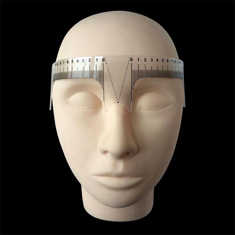 1 Stücke Augenbraue Grooming Schablone Shaper Lineal Messwerkzeug Make-Up Wiederverwendbare Permanent Makeup Messwerkzeuge
