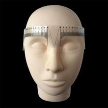 1Pcs Eyebrow Grooming Stencil Shaper Ruler Measure Tool Makeup Reusable Permanent Makeup Measure Tools