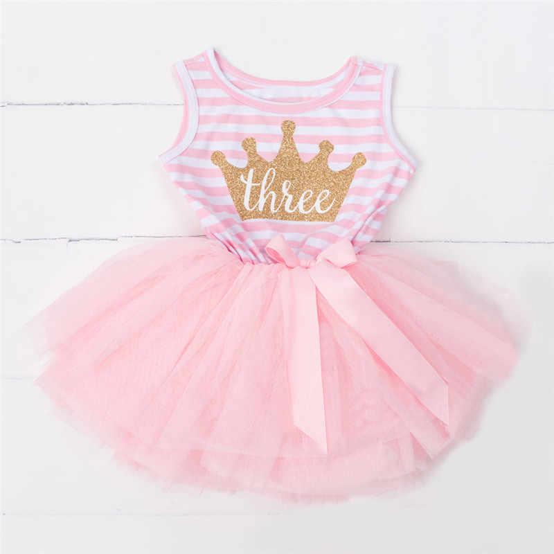 69e991a8419 ... Vestido de cumpleaños 1 er bebé para niña 2 3 años ropa de niño verano  bebé ...