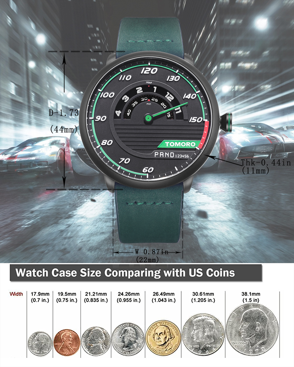 HTB1s1hlQVXXXXbbXFXXq6xXFXXXB TOMORO Men's Unique Racing Car 3D Design Wrist Watch