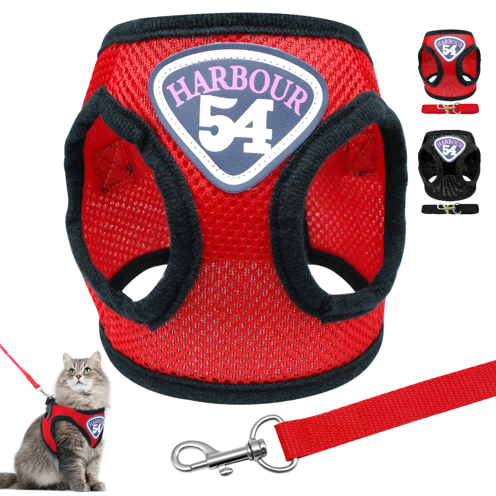 Cat Harness Vest Adjustable For Small Medium Dogs Cats Chihuahua Nylon Mesh Puppy Kitten Harness And Leash Set Walking S M L Xl