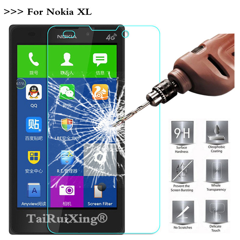 9H 2.5D 0.26mm Tempered Glass Screen Protector For Nokia XL Protective Film For Nokia XL Dual SIM RM-1030 / RM-1042 5.0