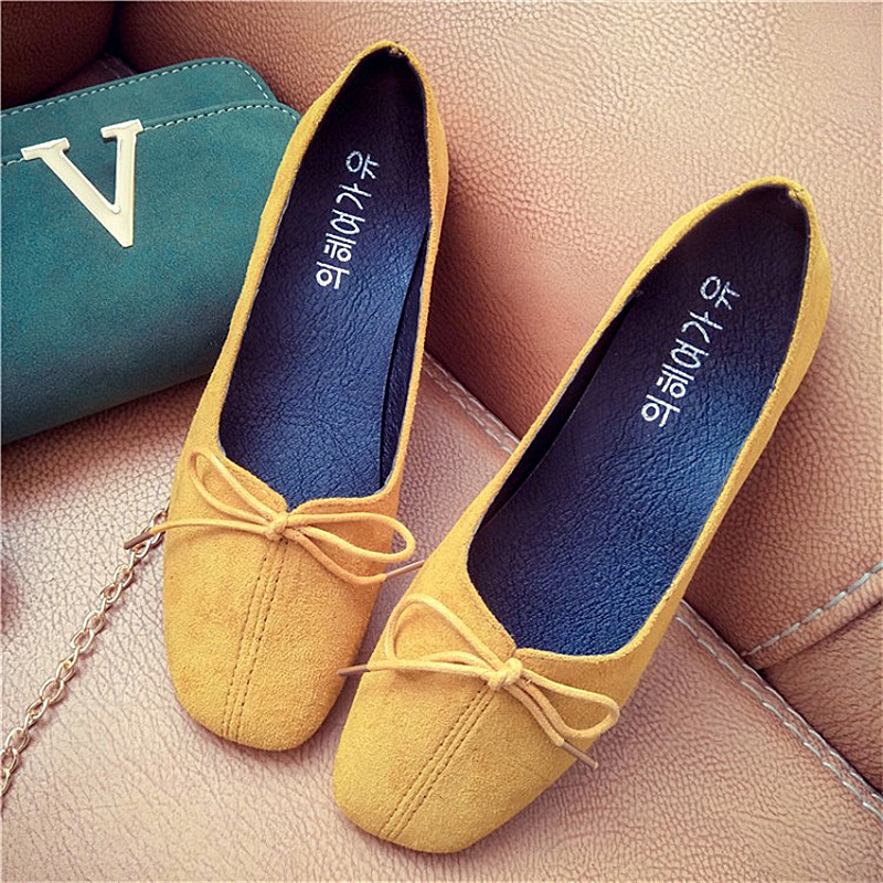 купить  Women Flats Shoes Spring Autumn Summer All Match Flat Heel Square Toe Casual Loafers Slip Resistance Mother Work Shoes  онлайн