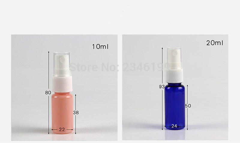 Spray Bottle 20ml 30ml Empty White Spray Pump Bottle 50ml Empty Plastic Cosmetic Container 100ml Plastic Spray Bottle 10ml (3)
