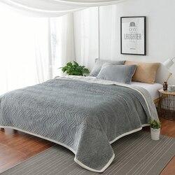 Famvotar colcha de luxo ultra macio toda a temporada flanela cobertor de algodão tamanho completo grosso plush veludo colcha conjunto