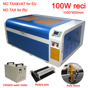 DSP1060 100W Co2 USB Laser Cutting Machine Laser Cutter Engraver 1000x600mm Auto-Focus DSP System Laser Cutter Engraver Chiller(China)