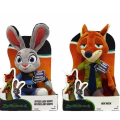 1pcs 23cm Zootopia Police Rabbit Judy Hopps Plush Dolls Fox Nick Wilde Movie Kids dolls stuffed toys Plush Zootopia Dolls