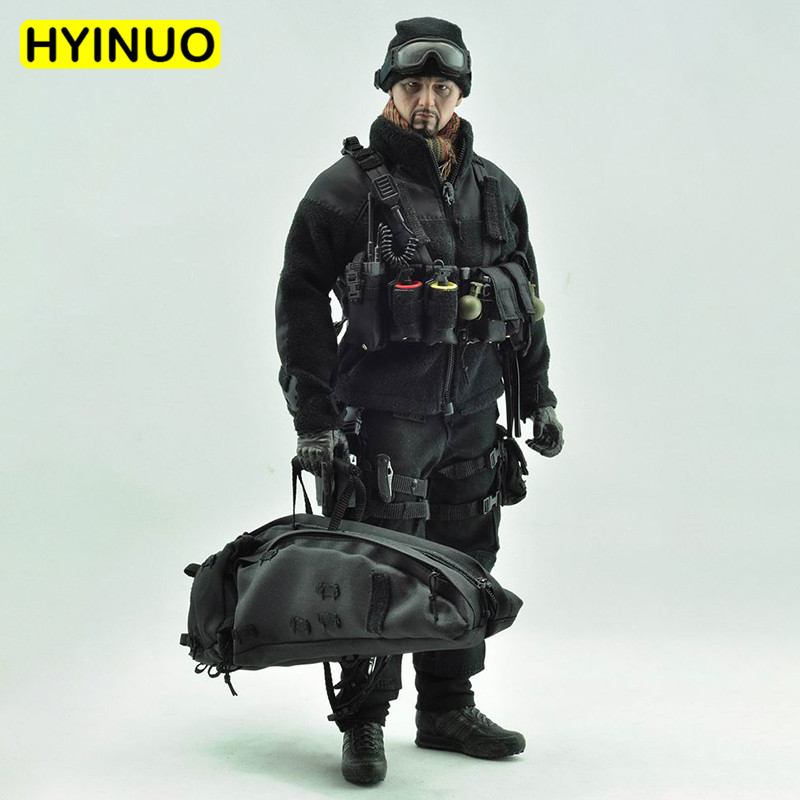 1/6 Scale VH1017 US Sniper Special Forces Black Action Men Individual Attack Equipment Clothing Set F 12 Action Figure MaleBody