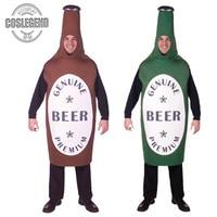 Adult Green Beer Bottle Cosplay Fun Costume Men's Germany Oktoberfest Beer Festival Costume