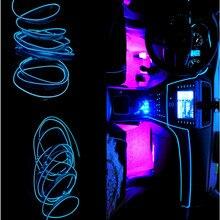 JURUS, 1 метр, атмосферная лампа, гибкий светильник s, светодиодный светильник для салона автомобиля, Светодиодная лента, Авто El Wire, 12 В, декоративная лампа, аксессуары