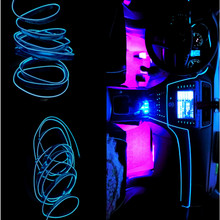 1Meter/39 inch Atmosphere Lamps Car Interior Light Ambient Cold Line DIY Decorative Dashboard Door Styling