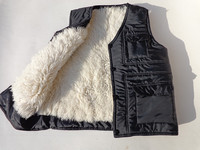 Real Fur Male Vest Waistcoat Thermal Vest Men S Clothing Genuine Leather Liner Wool Sheepskin Black