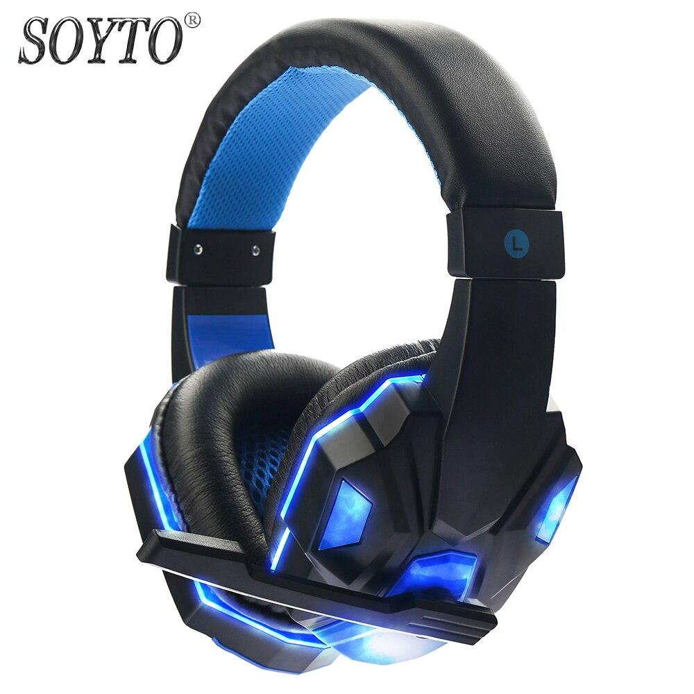 SOYTO SY830MV originaaljuhtmega kõrvaklapid PC LED Stereo bassiga - Kaasaskantav audio ja video - Foto 1