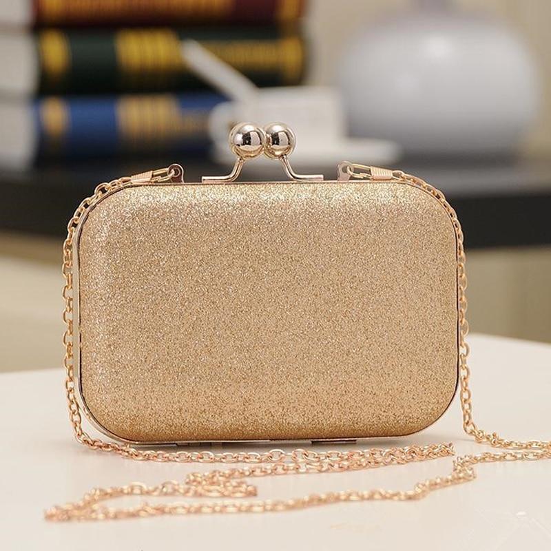 UKQLING 골드 박스 가방 여성용 클러치 이브닝 백 체인 Ladies Bag Day 클러치 지갑과 핸드백 Sac a Main Phone Package