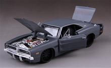 MAISTO Fast & Furious Character 1969 Dodge Charger R/T Grey 1:24 Diecast Model Car Christmas Kids Toys