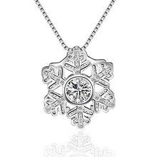 JEXXI Women Gilr Best Gifts Stylish Silver Snowflake Pendant Drop Earrings for Women Wedding Lovely Collier