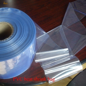 Image 4 - 1 kg/lot 5 6 50 55 cm Width PVC Heat Shrink Wrap Tube Wholesale in Roll Clear Plastic Polybag Gift package shrink sleeve film