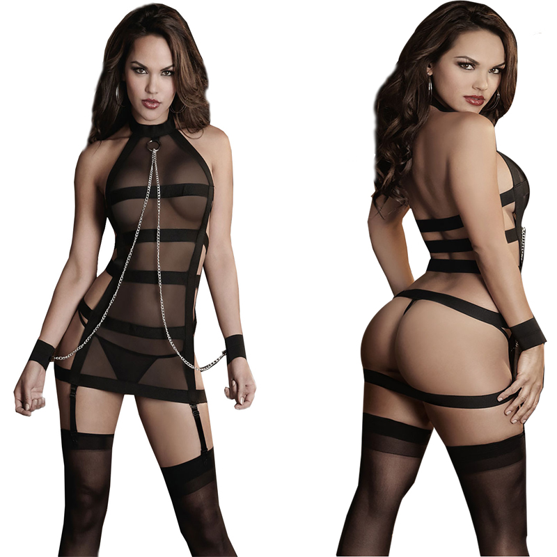 2016 Women Sexy Lingerie Hot Porn Lace Handcuff Lingerie Baby font b Doll b font Sexy