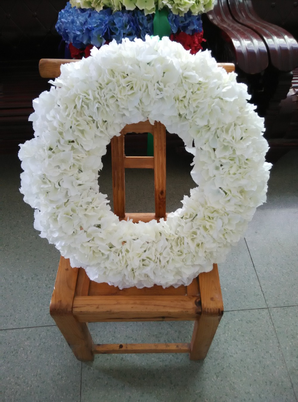 Buy 20 inches wall decoration flowers for 3 wreath door decoration