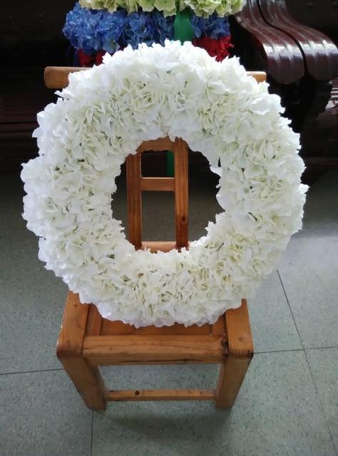 Ordinaire 20 Inches Wall Decoration Flowers Front Door Wreaths White Orange Red Blue  Hydrangeas Garland