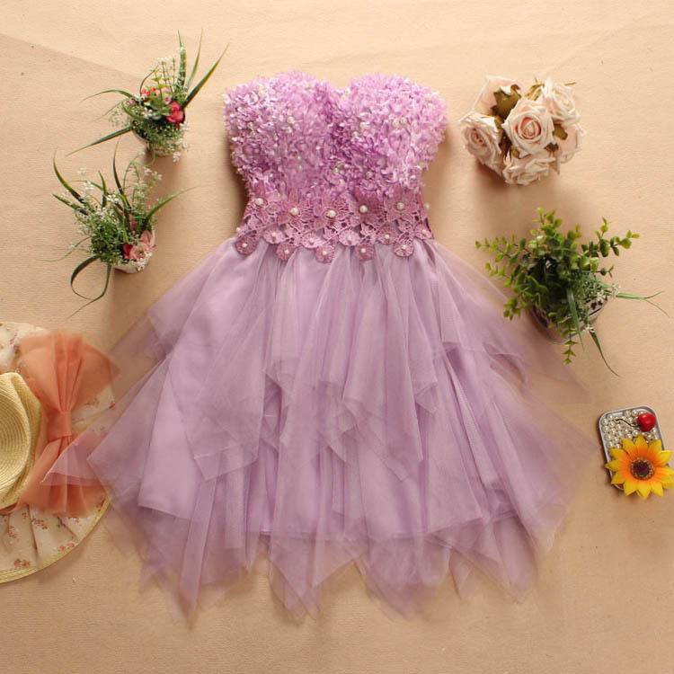 2016 youth girls print 3D flowers long dress girl pearls evening lace dresses  girl s party tee dab7916bff21