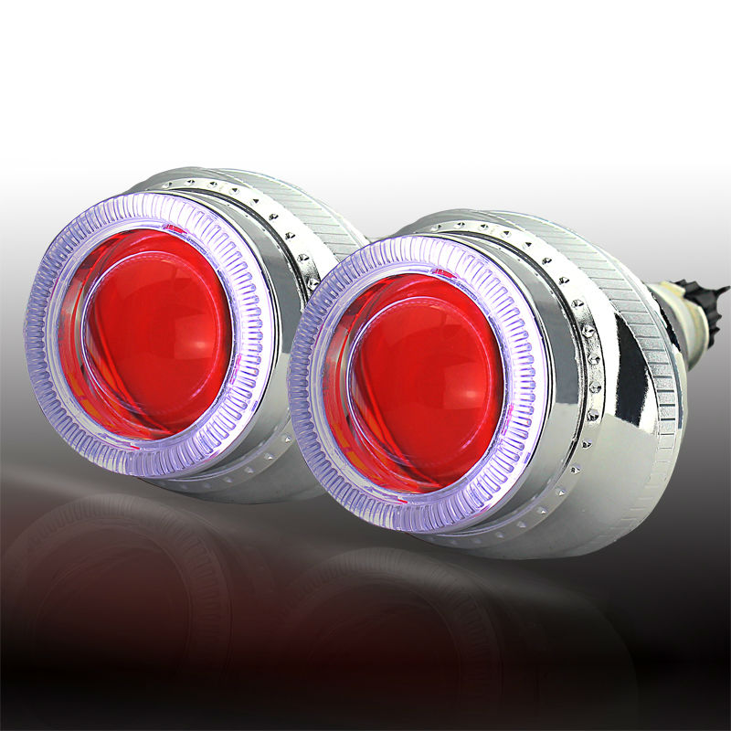 ФОТО 3 inch bi-xenon hid projector lens light universal for headlight parking H1 H4 H7 car light source with angel eyes