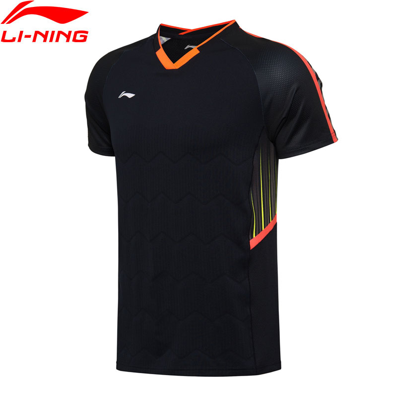 Li-Ning Men Badminton Competition T-shirt NYFW Model TEE AT DRY Breathable Regular Fit LiNing Sports t-shirts AAYN003