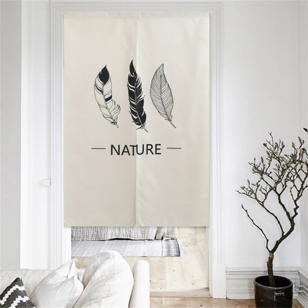 XIAOKENAI 85CMx120CM Curtains Home Decor Modern Room Divider For Bedroom Kitchen Decorative Door Curtain Doorway Polyester Solid