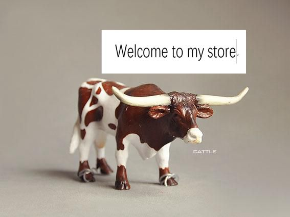 solid  pvc figure   Wild Animal Toys Texas Tabby Bull