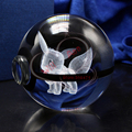 3D Laser Pokemon Go Crystal Eevee Ball With Led Light Base for Cartoon Souvenirs