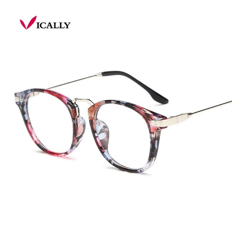 Fashion Women Cat\'s Eye Glasses Brand Designer Frames Print Frame ...