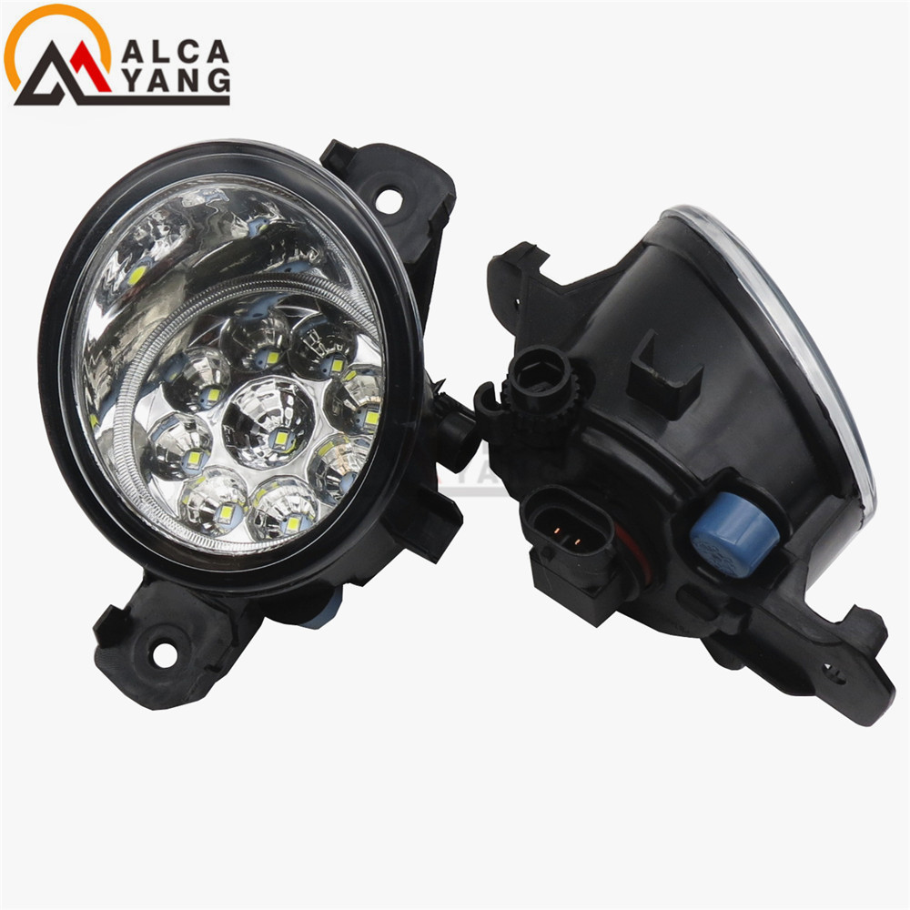 For NISSAN ALMERA 2 Urvan X-TRAIL T30 T31 Versa MARCH 3 Platina 2001-2015 Car styling LED fog Lights high brightness fog lamps for nissan x trail t30 2001 2006 car styling led light emitting diodes drl fog lamps