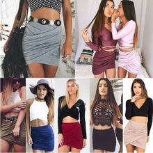 Starlist woman multicolor sexy night club plated skirts high quality package hip cotton slim high waist mini skirt bottoms