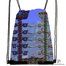Custom Terraria (5) Drawstring Backpack Bag Cute Daypack Kids Satchel (Black Back) 31x40cm#180531-04-67