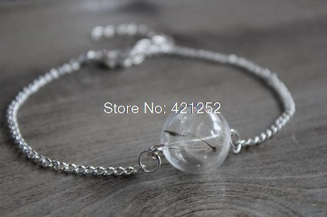 8pcs Lot Real Dandelion Bracelet Delicate N Gl Lense With Seeds In