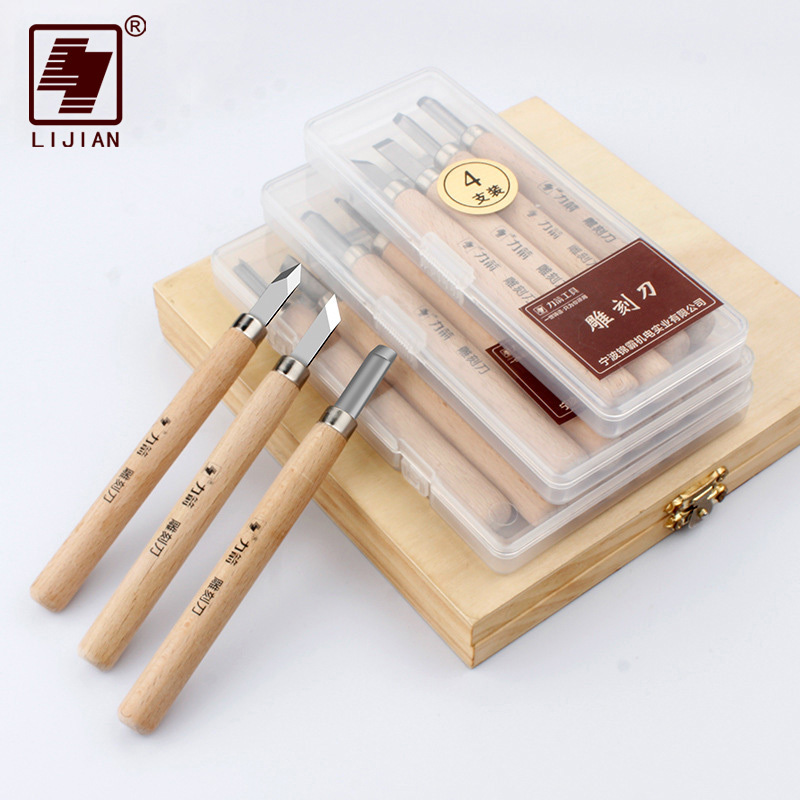 LIJIAN 4/6/8 PCS Set Wood Hand Carving Tools Woodworking Tool Kit High Quality Wood Chisels Wood Carving Knife Hand Tools 6 pcs dremel rotary tool mini drill bit set cutting tools for woodworking knife wood carving tools kit wood tools accessories