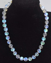 moonstone quartz white round necklace 8/10/12mm  18inch FPPJ wholesale beads nature blue rabinbow freshwater pearl white near round and red jade leopard clasp necklace 18inch fppj wholesale beads nature