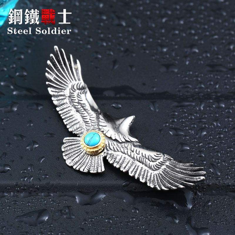 steel soldier hot sale eagle design style pendant popular for Japan fashion stainless steel jewelry for men and women