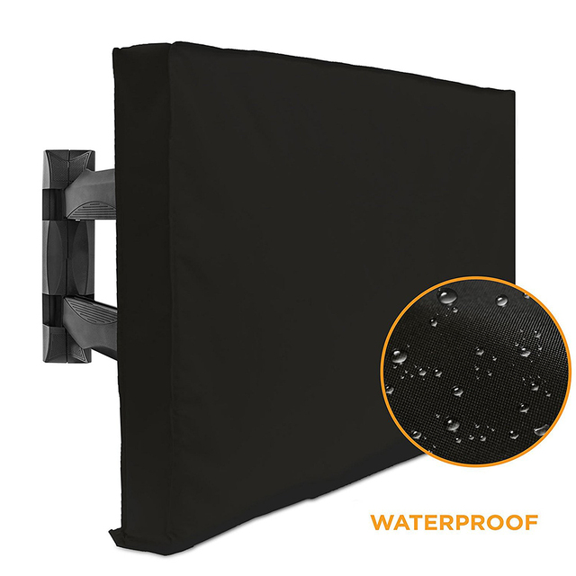 Outdoor Tv Cover With Bottom Quality Weatherproof Dust Proof Material Protect Lcd Led Plasma Television