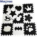 Desenvolvimento suave infantil rastejando tapetes, jogo do bebê puzzle número/letra/Mickey eva foam mat Black & branco piso pad para jogos do bebê